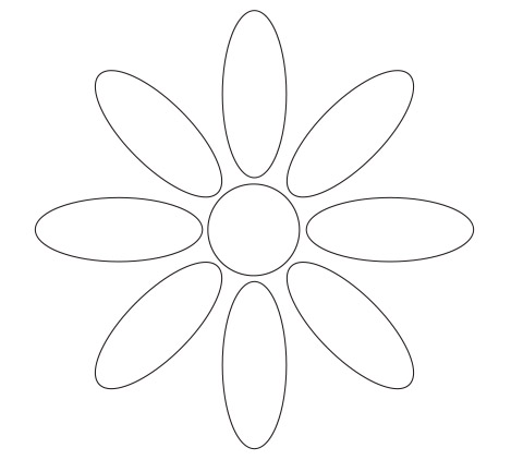 Nifty image for printable flower petal