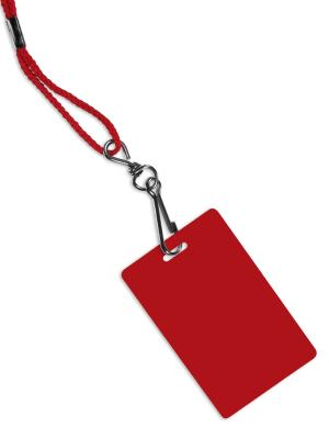 red beaded lanyard