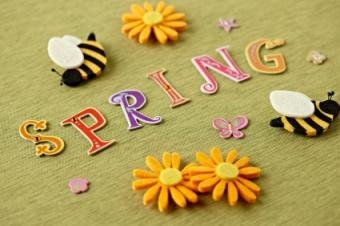 spring crafts with bees