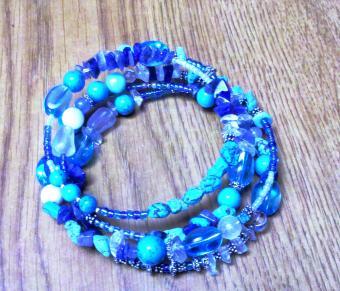 Coiled bracelet