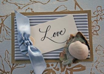 Homemade romantic card
