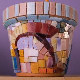 Mosaic clay pot; Copyright Plamen Petrov at Dreamstime.com