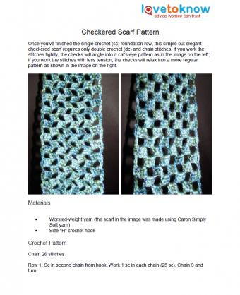 Checkered Scarf Pattern