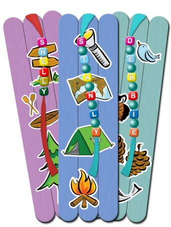 summer camp popsicle bookmarks