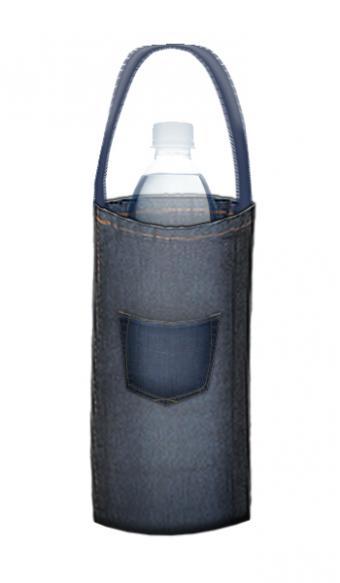 denim water bottle bag