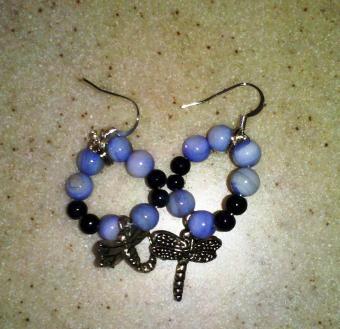 Circular charm earrings
