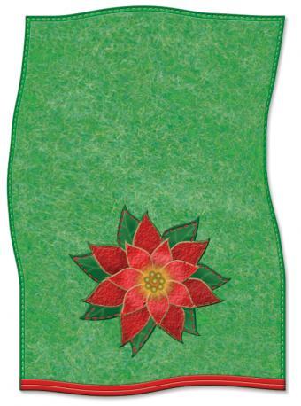 Christmas applique dish towel