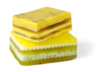 Layered bars of soap