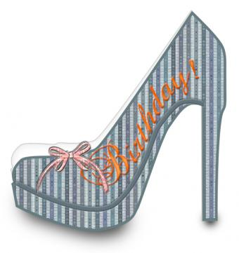 High heel shaped card