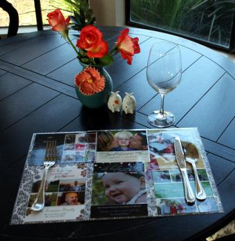 Recycled Christmas card placemat
