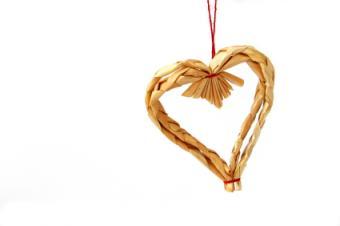 straw heart ornament