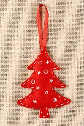 Embroidered Felt Tree Ornament Pattern
