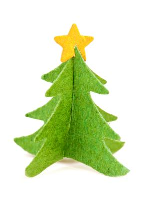 3-D Felt Evergreen Tree Pattern