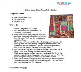fleece baby blanket pattern