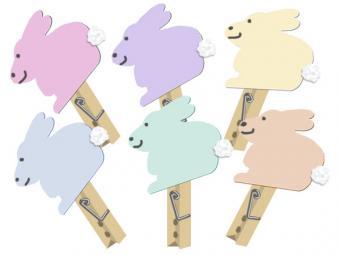 Bunny clip magnet craft