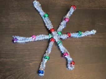 Beaded Snowflake Craft