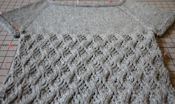 Castle pullover blocking
