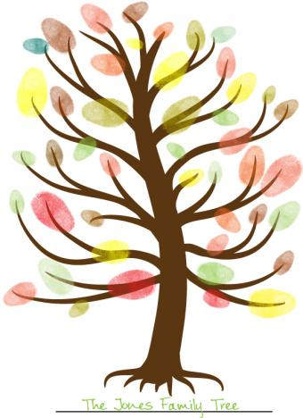 Fall Tree Fingerprint Craft