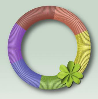 Rainbow St. Patrick's wreath