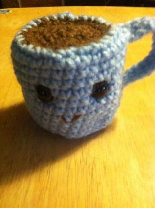 amigurumi coffee mug
