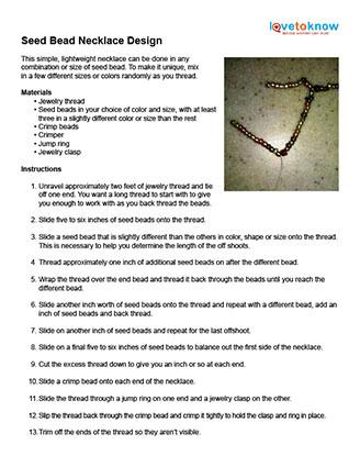 seed bead necklace pattern