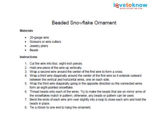 beaded snowflake instructions