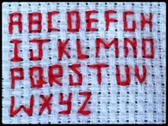 Red alphabet