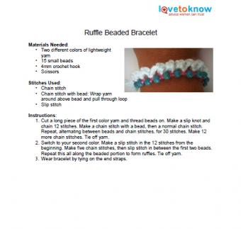 Ruffle Beaded Bracelet Pattern