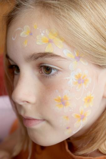 Flower face paint