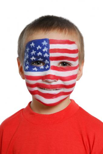 Flag face paint
