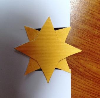 Star on card exterior