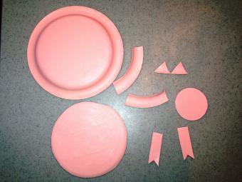 Paper pig parts