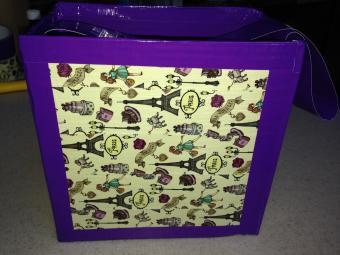 Cardboard duct tape purse