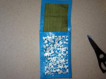 Duct tape purse open
