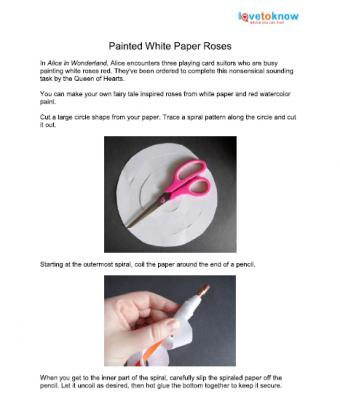 paper rose printable instructions