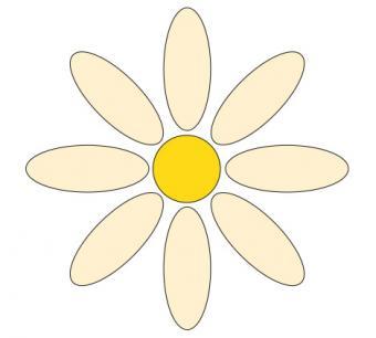 Color printable flower
