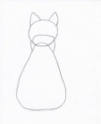 cat drawing step 2