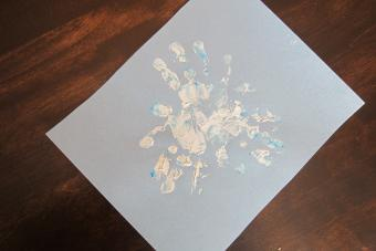 snowflake handprint