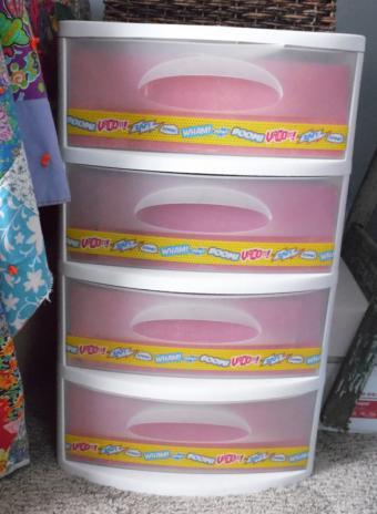 washi tape storage drawers