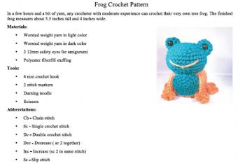 Toy Frog Pattern
