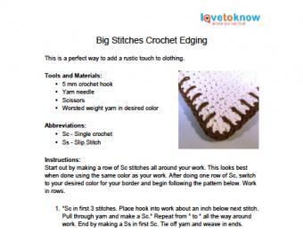 big stitch edging