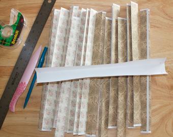 folded strips