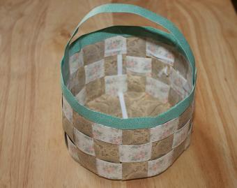 finished paper basket