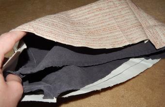 sew bottom of purse