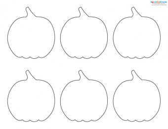 Felt Craft Patterns 5 pumpkin