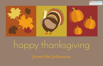 custom Thanksgiving card