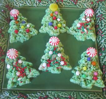 rice cereal christmas trees
