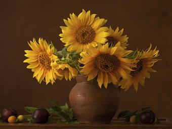 Sunflower Bouquet Fall Centerpiece