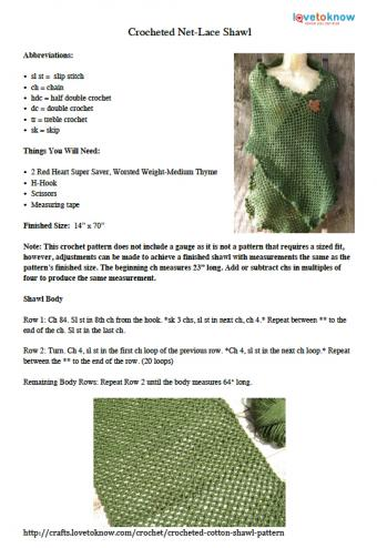 Net-Lace Shawl Pattern