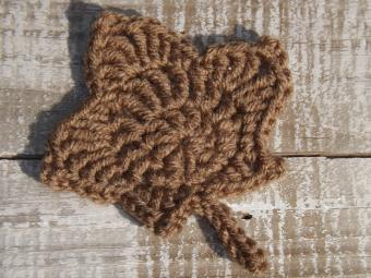 Crocheted Maple Leaf